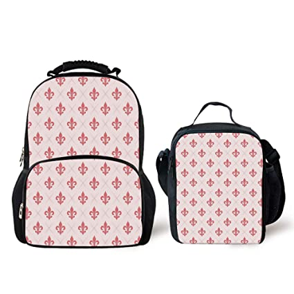 Amazon Iprint Schoolbags Lunch Bagcoralcheckered Pattern