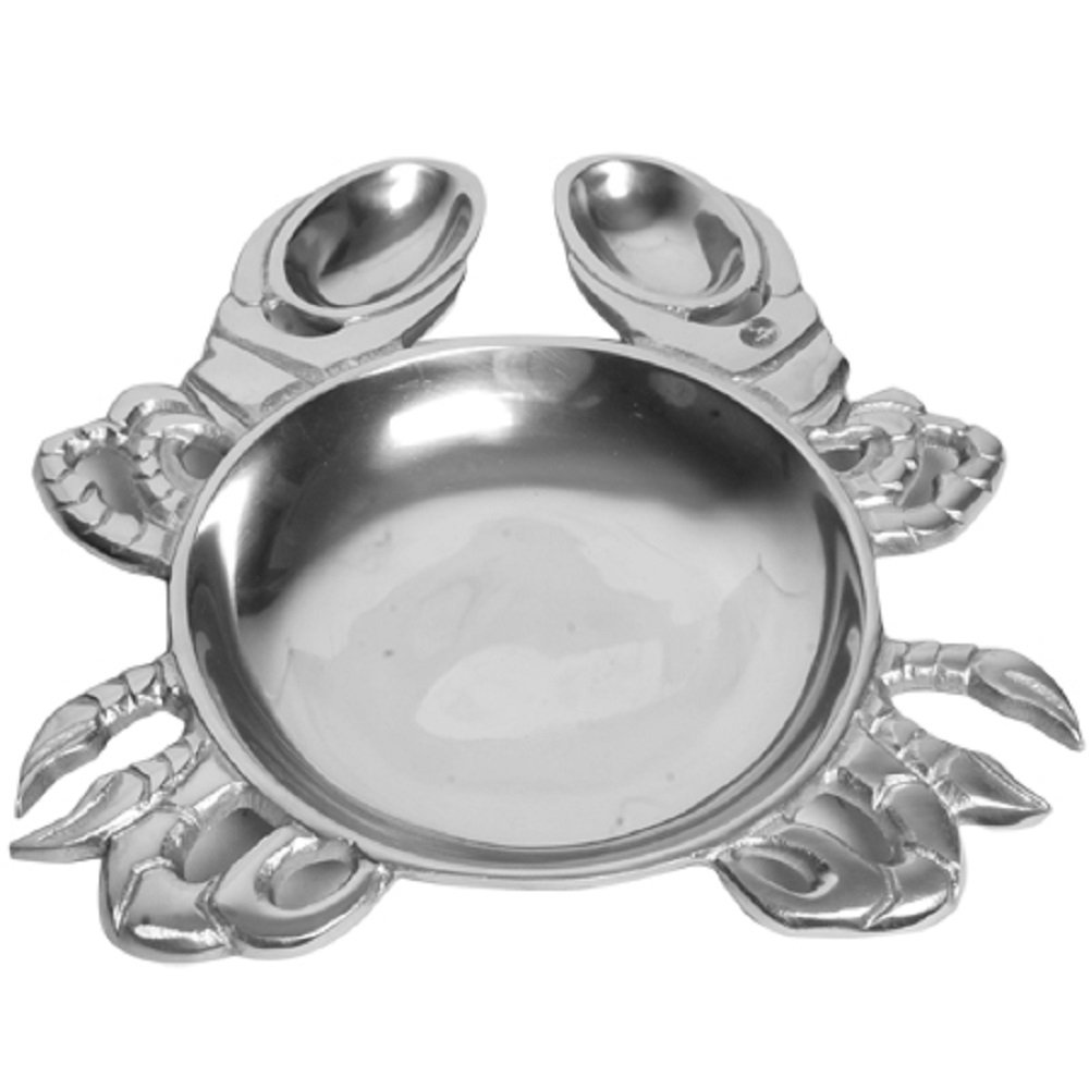 Coastal Christmas Tablescape Décor - Aluminum crab serveware dish