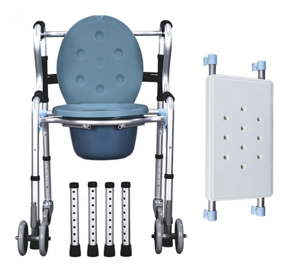 Folding Seat Toilet Aluminum Alloy Pulley Older People Disabled People Pregnant Women Multi-function Seat Toilet Walking Rack Bath Seat