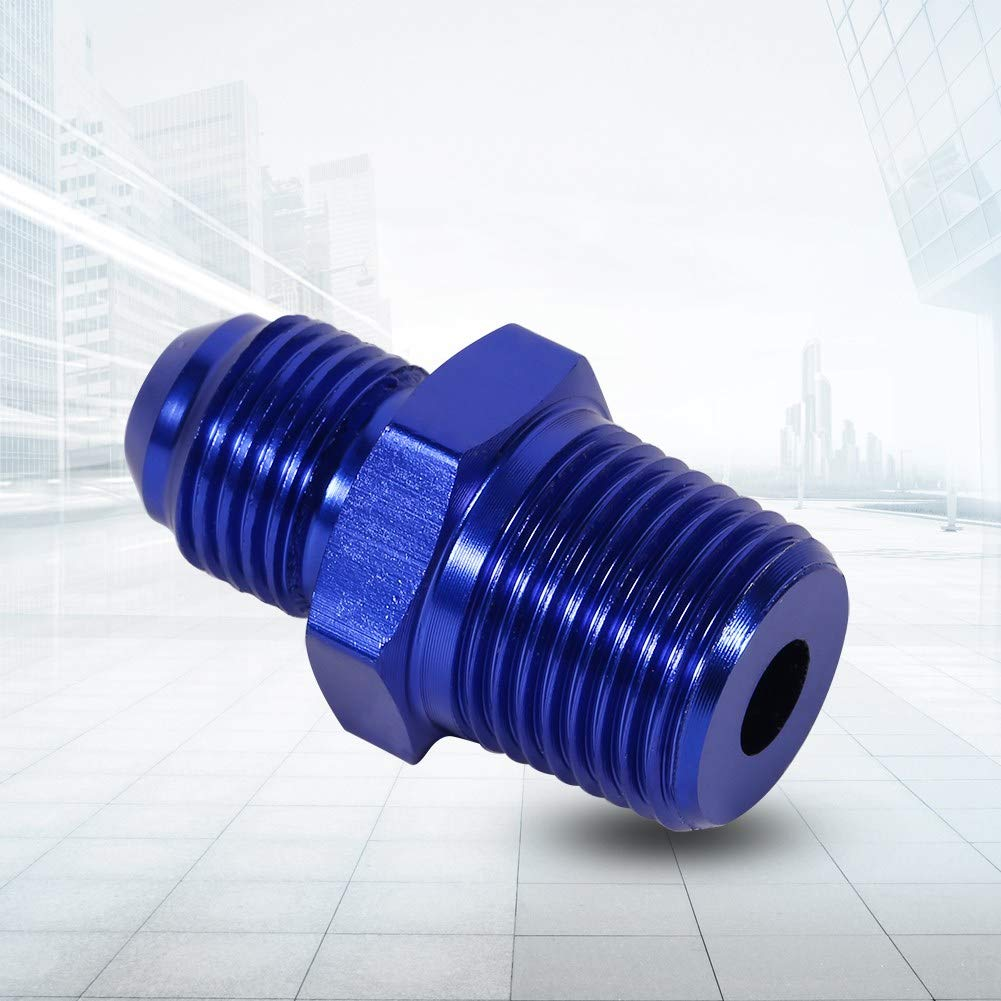 Keenso Aluminum Male Flare AN6 To 3//8 NPT Straight Fuel Oil Fitting Adapter Blue Turbo Feed Line Oil Filter Sandwich Plate Cooler Adapter Pipe Straight Adapter