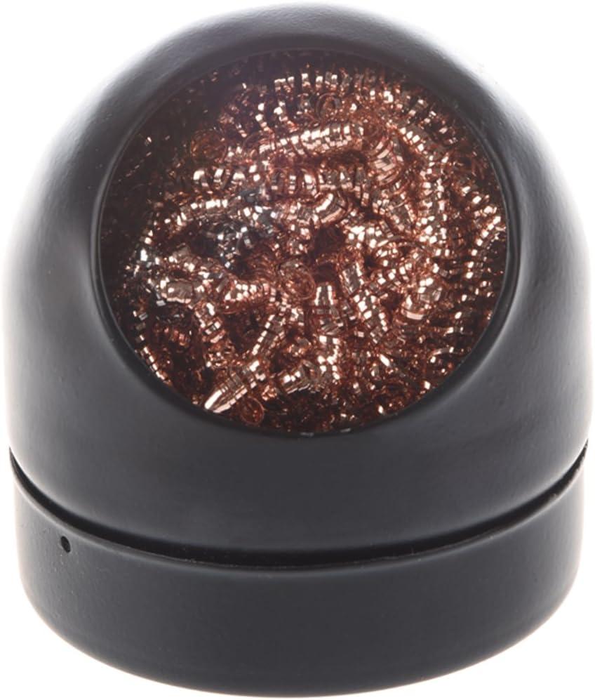 Toolmore Limpieza de punta de hierro del soldador Bola de limpiador de boquilla de alambre con sostenedor de almacenamiento