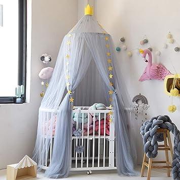 Princesa de Dosel de la Cama Mosquitera para Cuna Ni/ña Tiendas de campa/ña para ni/ños Di/ámetro 100cm Lebze Dosel para Cama Canopy Infantil Algod/ón C/úpula
