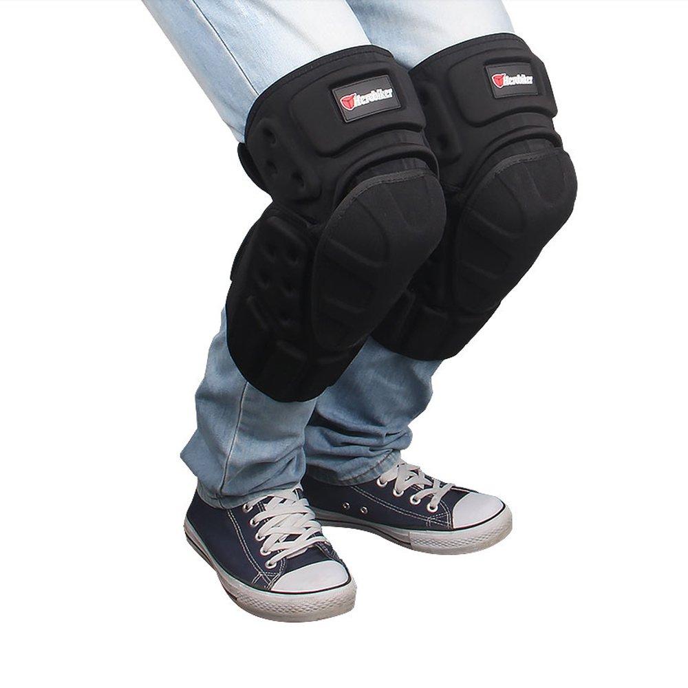 HEROBIKER Moto Knee Pads Black Protective Motorcycle Kneepad Motorcycle Motocross Bike Bicycle Pads Knee Pads Protective Guards
