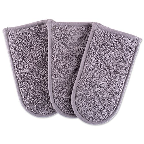 Gray Terry Cloth Covers (DII Everyday Kitchen Basic Terry Pan Handle (Set of 3), Gray)