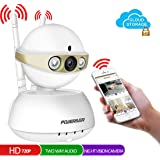 Home Camera,POWERIVER WiFi IP Indoor Security System with Motion Detection,Two-Way Audio & Night Vision for Baby / Pet / Front Porch Monitor,Remote Control with iOS, Android, PC APP(Gold)