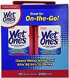 Wet Ones Travel Packs Fresh Scent 10 Packs, 200 Wipes