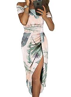 3e47f6128acd Aleumdr Vestito Donna Senza Spalline Abito Donna Sexy Taglia S-XL