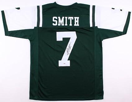GENO SMITH SIGNED NY JETS JERSEY w/ PSA COA NEW YORK GIANTS BACKUP ...