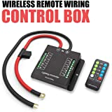 automotive wireless remote wiring control box - electronic 8 relay system  module - wiring harness kit