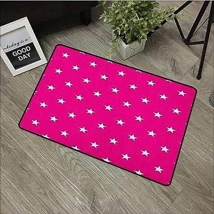 Felpudo Cuadrado de Color Rosa, diseño de Piel de Leopardo en ...