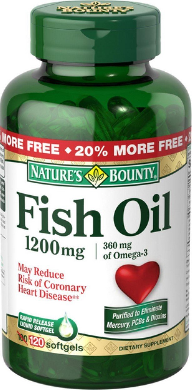 Nature's Bounty Fish Oil 1200 mg Softgels 120 ea (Pack of 11)