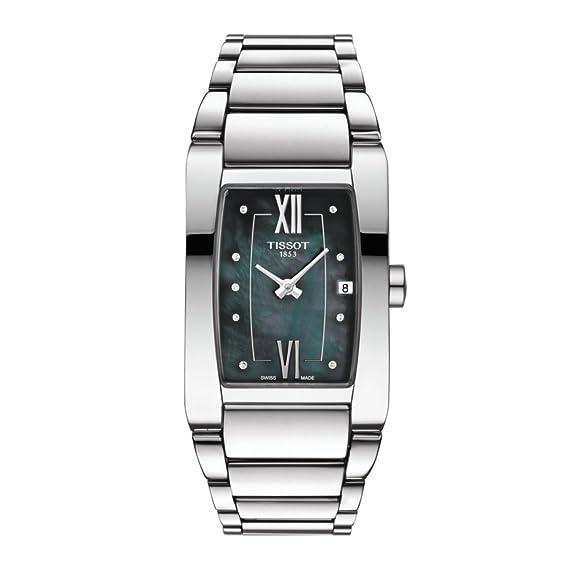 Tissot Stock Reloj Analógico para Mujer de Cuarzo con Correa en Acero Inoxidable T1053091112600: Amazon.es: Relojes