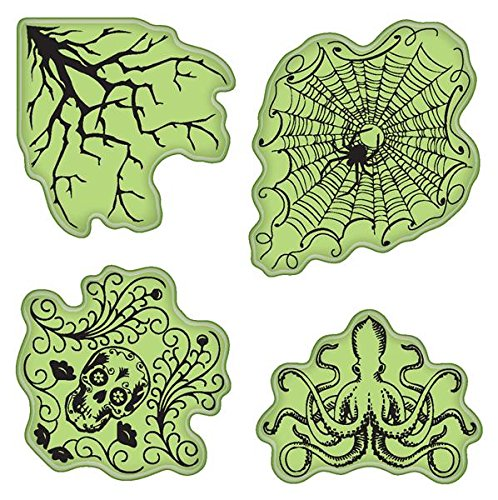 Inkadinkado Stamping Gear Cling Stamps, (Halloween Lables)