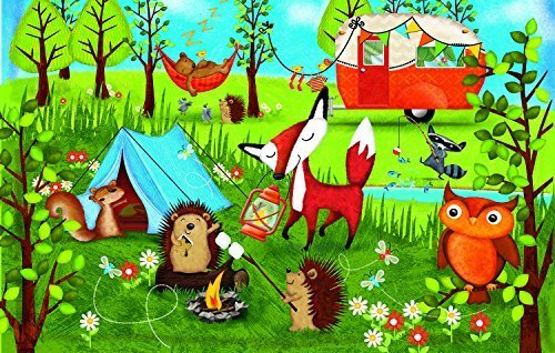 - SunsOut Happy Campers 100 pc Jigsaw Puzzle