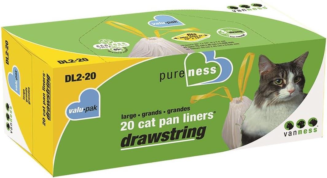 Pack of 6 20 Ct Large Van Ness Drawstring Cat Pan Liners