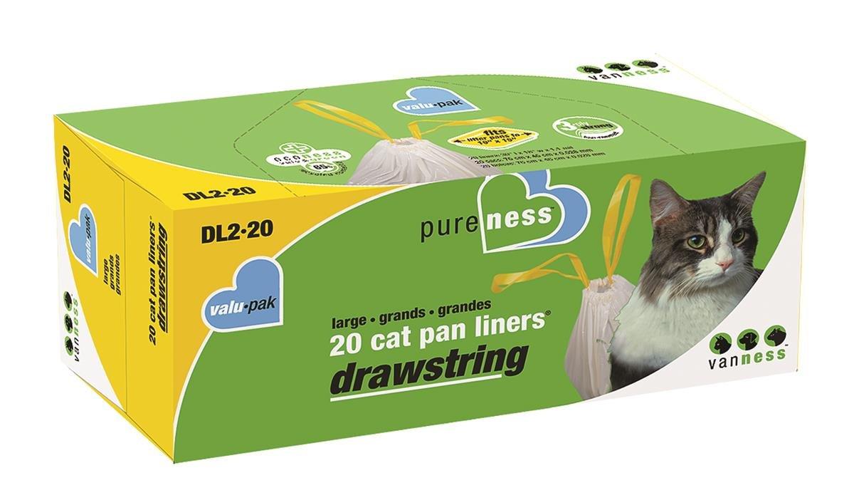 Van Ness Large Drawstring Valu-Pak Cat Pan Liners, 20 Count