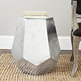 21.7 in. Side Table in Silver