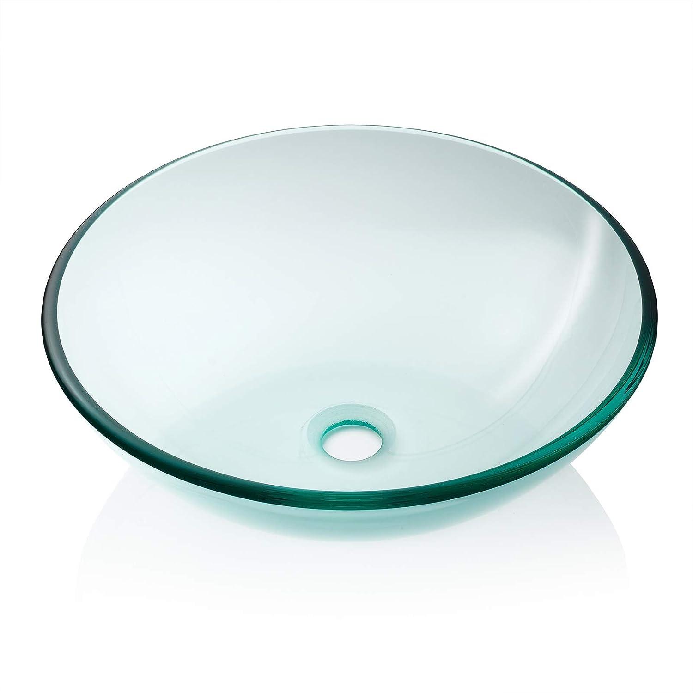 1. Miligore Modern Glass Vessel Sink