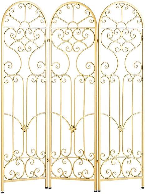 Room Screen Even Romántica Pantalla metálica Europea con diseño Calado, Pantalla de privacidad portátil Plegable, Adecuada para jardín, Sala de Estar, Dormitorio, balcón: Amazon.es: Hogar