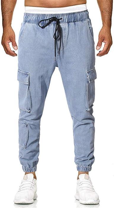 Amlaiworld Pantalones Deportivos De Hombre Verano Nuevo Europeo Y Americano Pantalones Con Cordon Para Hombre Tallas Grandes Con Multibolsillo Casual Plaid Long Pants Amazon Es Ropa Y Accesorios