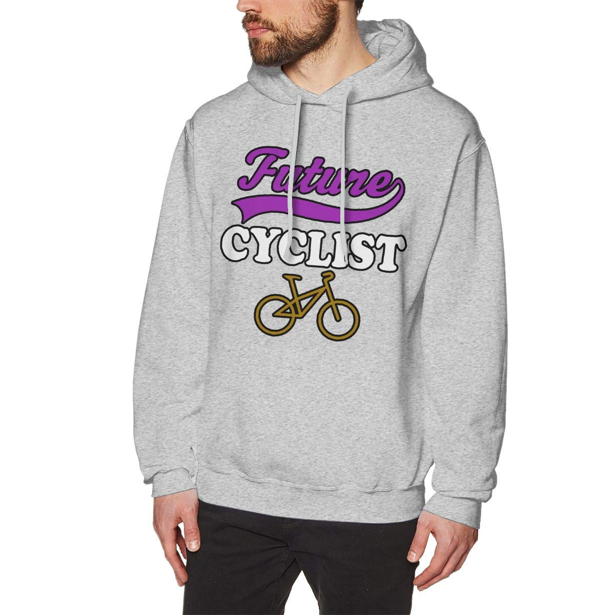 JIAU HUA Future Cyclist Mens Hooded Sweatshirt Sports 100/% Cotton Pullover Hoodie
