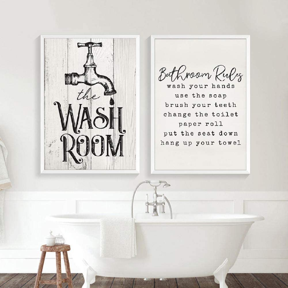 bathroom plaques wall decor uk