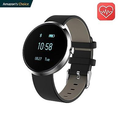 Fitness Tracker redondo reloj inteligente Monitor de frecuencia cardiaca llamada recordatorio Sleep Calidad y monitor de