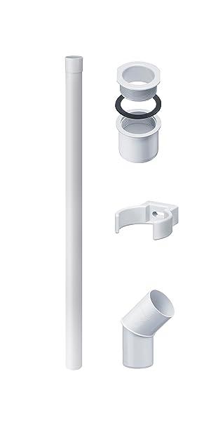 Inefa PVC-Clip-Rohrschelle DN 50 weiß Kunststoff Regenrinne Dachrinne