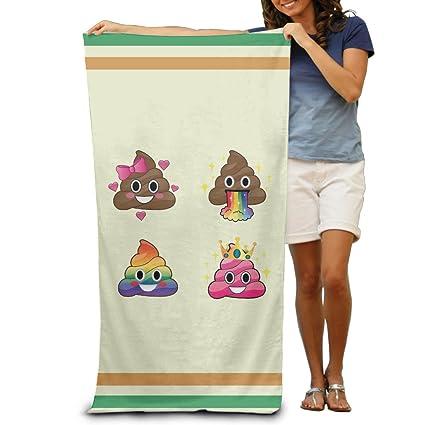 Funny Emoji caca RAINBOW toallas de baño toallas de playa de toallitas adultos suave absorbente