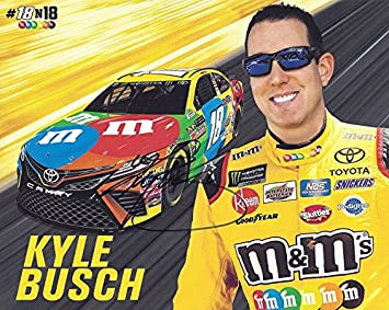99ffc68ff42 AUTOGRAPHED 2018 Kyle Busch  18 M Ms Toyota Team (Joe Gibbs Racing) Monster  Energy