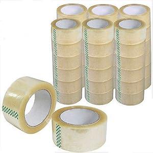 "BM Paper 36 Rolls Clear Carton Shipping Box Sealing Packing Tape 2"" x 110 Yards"