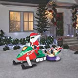 Gemmy Christmas Inflatable — Santa on Snowmobile