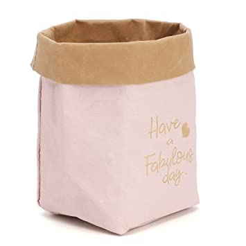 20bf8c1394dc Guoyy Kraft lavable sac de papier couverture plante cache-pot de stockage  poche multifonction (