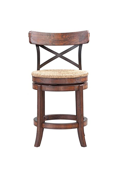 Boraam Myrtle Counter Height Stool, 24-Inch, Mahogany