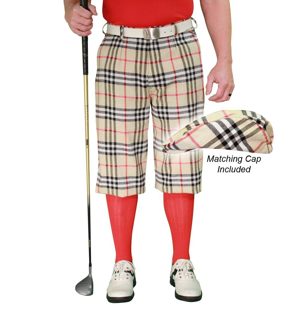 ゴルフニッカーズ格子柄とキャップ:メンズ'Par 5' - Kilmarnock 42  B07BHVS58N