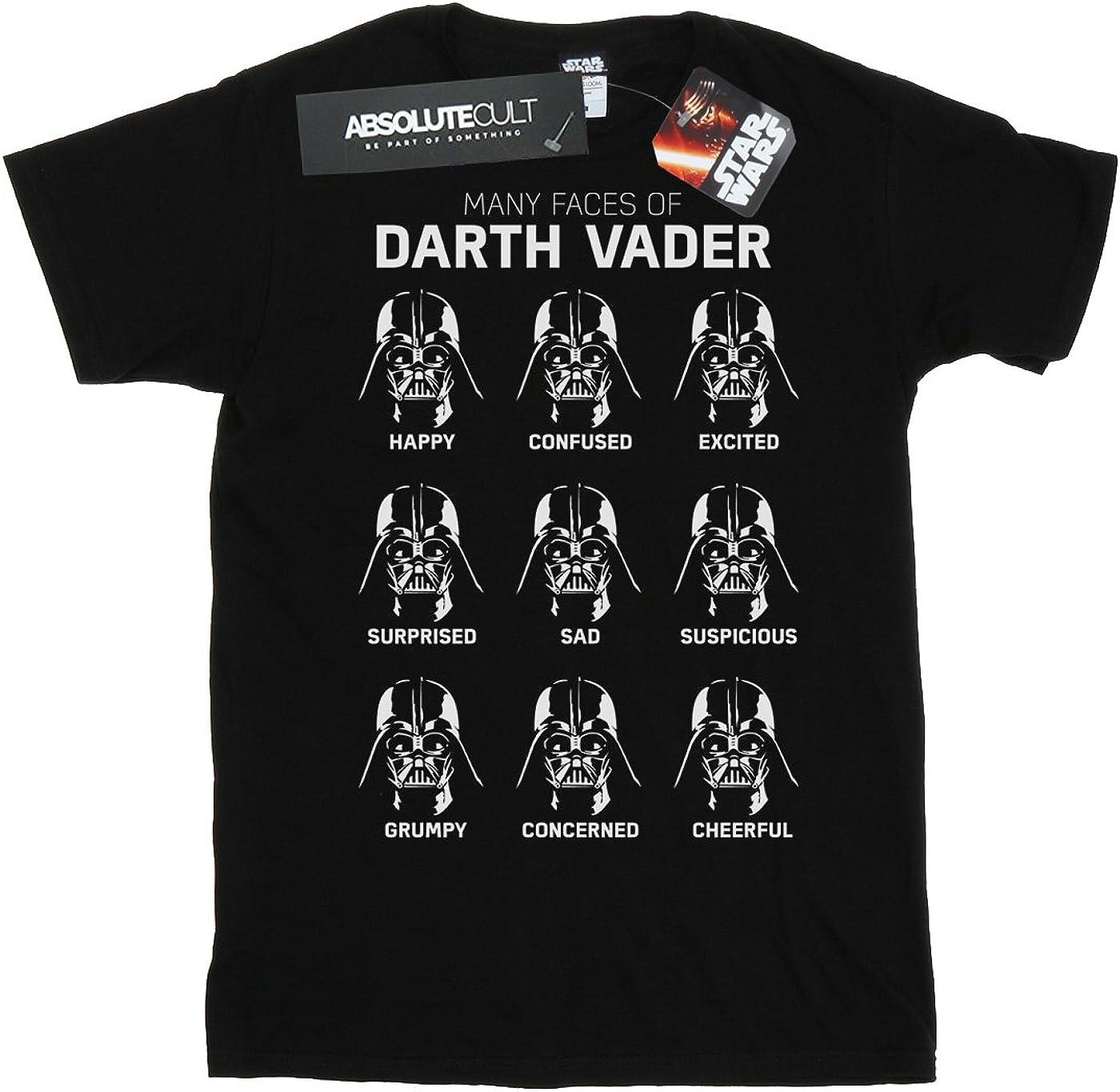 Star Wars Boys The Many Faces of Darth Vader T-Shirt