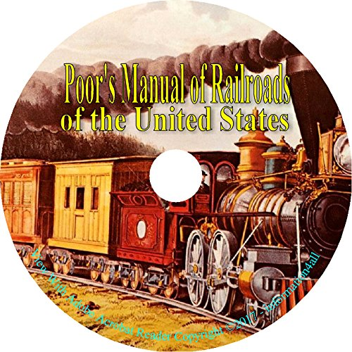 Read Online Poor's Manual of Railroad of the United States 22 Old Train Books on DVD ebook