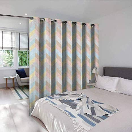 Amazon.com: Pastel Fabric Gromets Curtain Drapes for Boys ...