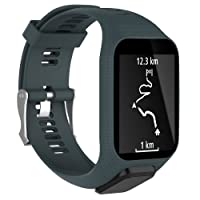 Leegoal Tomtom Uhrenarmband, Zubehör Ersatzband Silikon Ersatzband Sport Armband für Tomtom Runner 2/Runner 3/Spark 3/Abenteurer/Golfer 2 Sport GPS Running Smartwatch