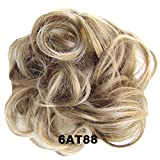PrettyWit Hair Bun Updo Extensions Chignons Hair Piece Wig Scrunchy Scrunchie Hairpiece Ribbon Ponytail Bridal Drawstring-Light Chestnut Brown 6AT88
