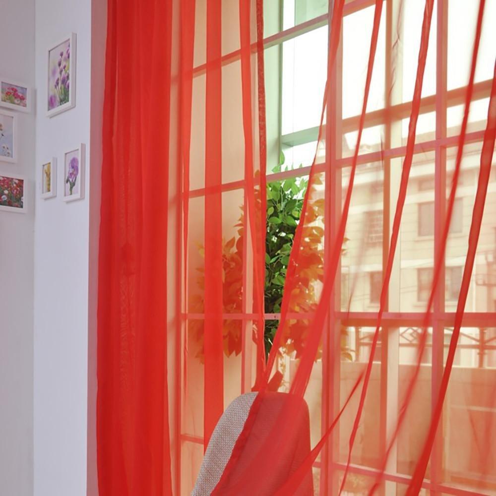 Tonsee Transparent Voile Gardinen Mode Durchsichtig Vorh/änge mit /Ösen f/ür Wohnzimmer Schals Schlafzimmer Vorh/änge Kinderzimmer Dekoschals Transparent F/ür Gro/ße Fenster 1paar,200cm x 120cm A