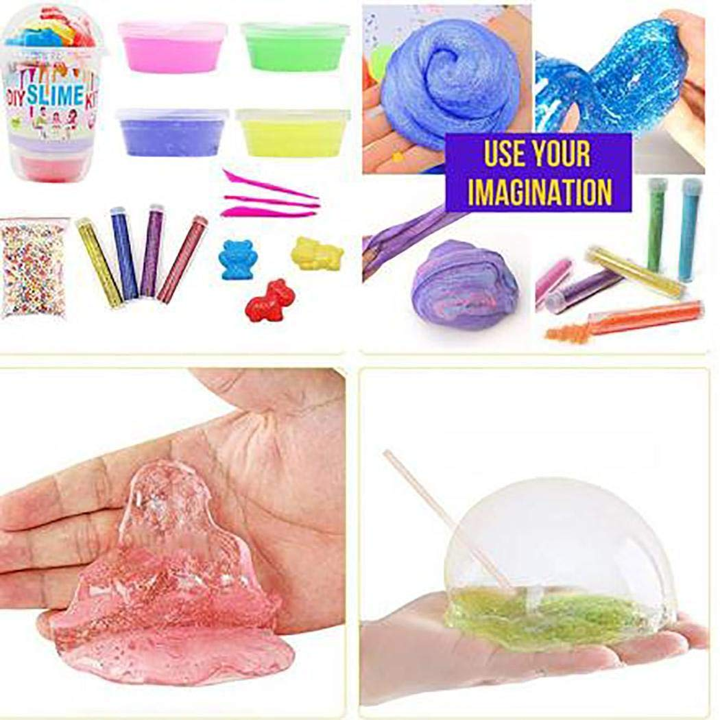 Ailler DIY Slime Kit Fluffy Soft Foam Clay Making Material Set Plasticine for Children Hand & Footprint Makers by ailler