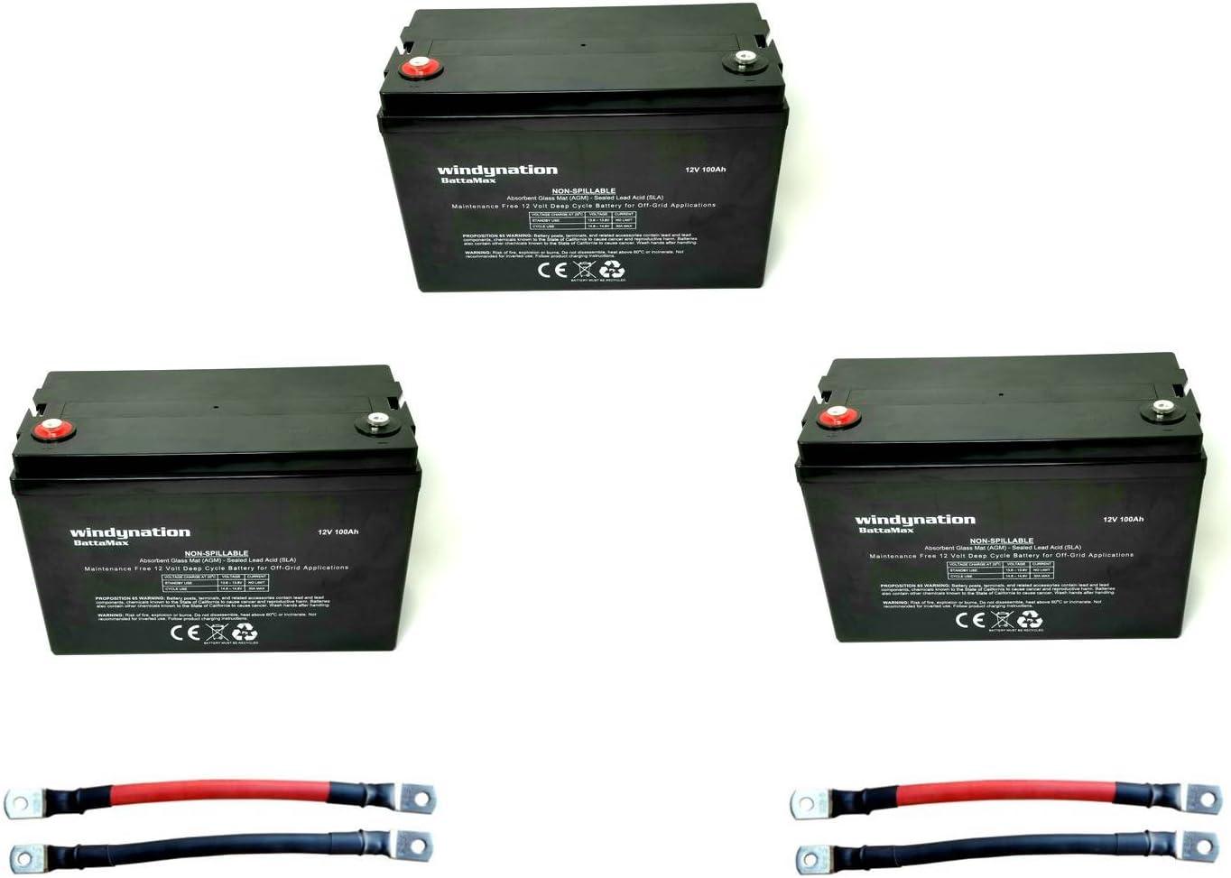 100Ah AGM Gel Boat Battery 12V 100Ah Solar Off Grid System 110Ah Leisure