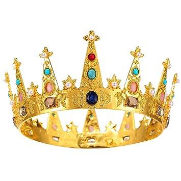 Amazon.com: ssnuoy oro Queen Tiaras y coronas para mujer ...