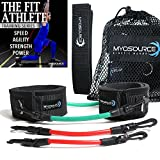 Kinetic Bands Leg Resistance Speed Bands for Athletic Performance and Fitness Training – Digital Training Videos and Workout Guides (INT Red-Green: User Weight Over 110) Review