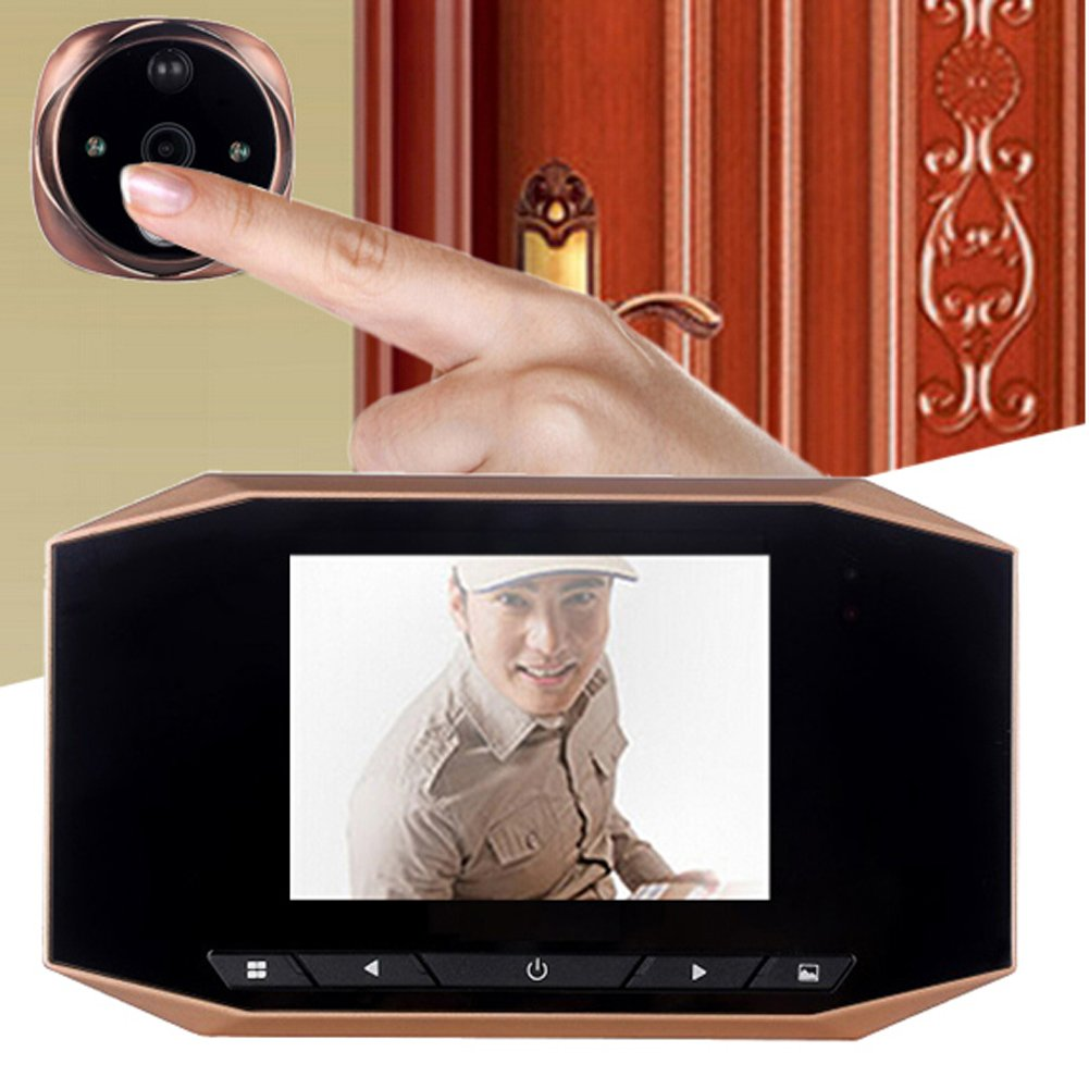 3.5 LCD Digital door peephole viewer IR night Vision video/picture record doorbell motion detection toptens 4331039532