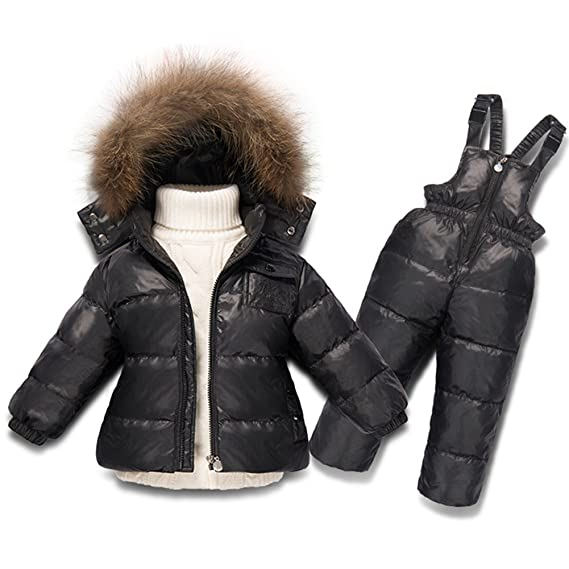 8915af5e14e0 XIRUI Newest Children Girls Clothing Sets Winter Hooded Duck Down ...