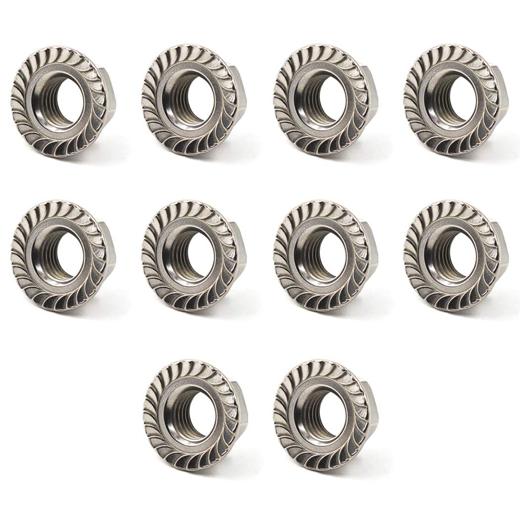 304 Stainless Steel Metric M6 Flange Nuts 6mm Hex Nut-30 Pack datang