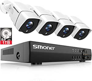 2020 New CCTV Camera Systems,SMONET 1080P 8 Channel 5-in-1 Home Security Camera Systems,(1TB Hard Drive)