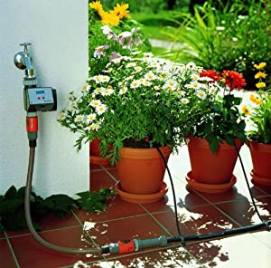 gardena micro drip system water irrigation for plants and gardens with water computer 12 month. Black Bedroom Furniture Sets. Home Design Ideas